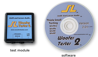 Woofer Tester 2 test module and software